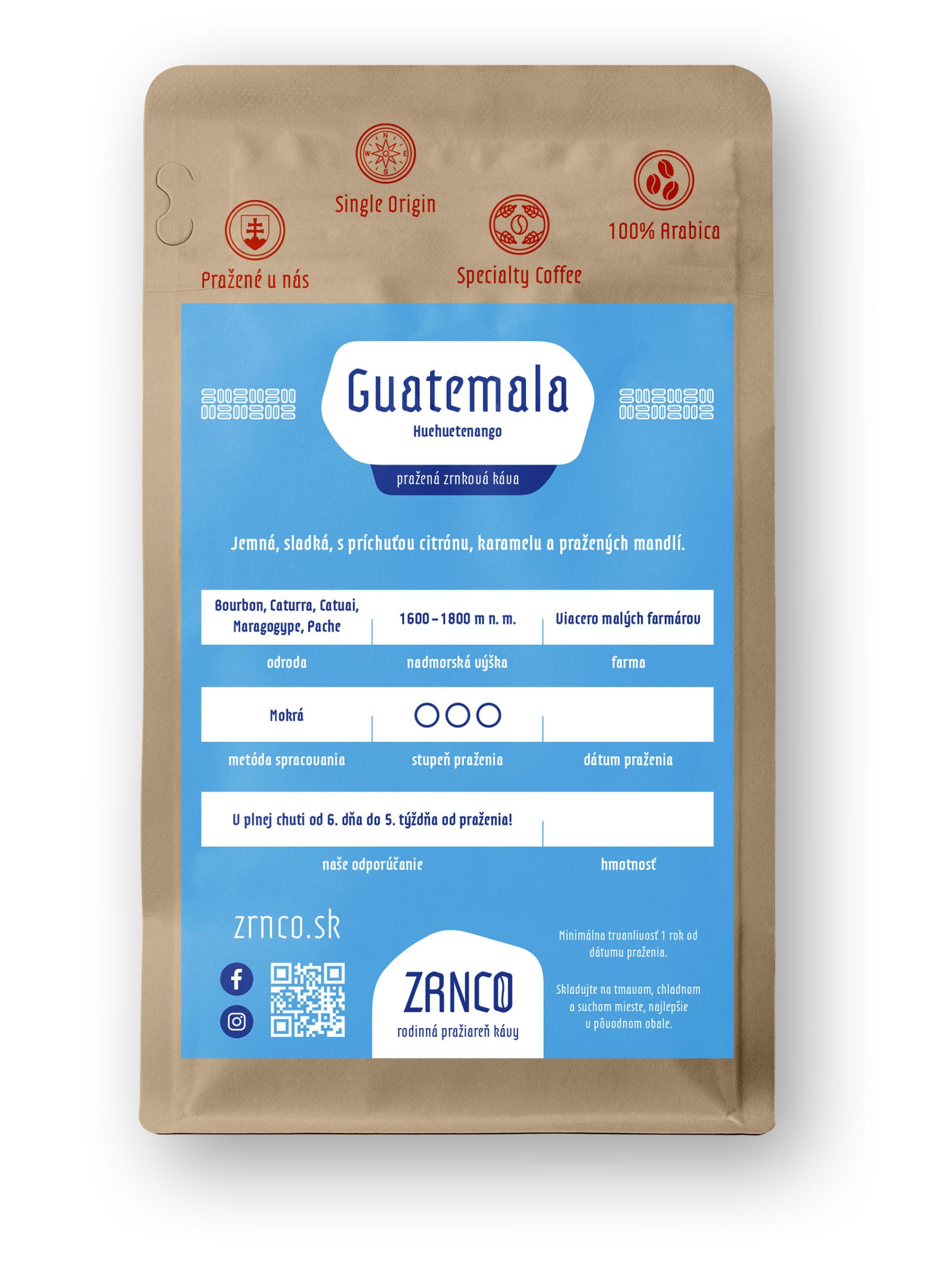 Guatemala | ZRNCO rodinná pražiareň kávy